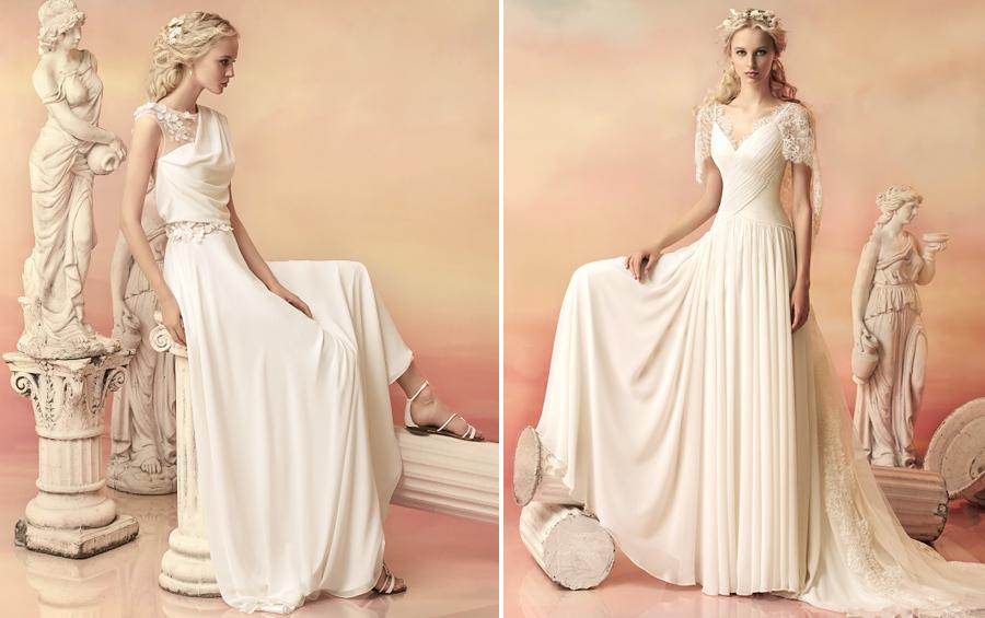 Образ греческой богини: свадебное платье в стиле ампир